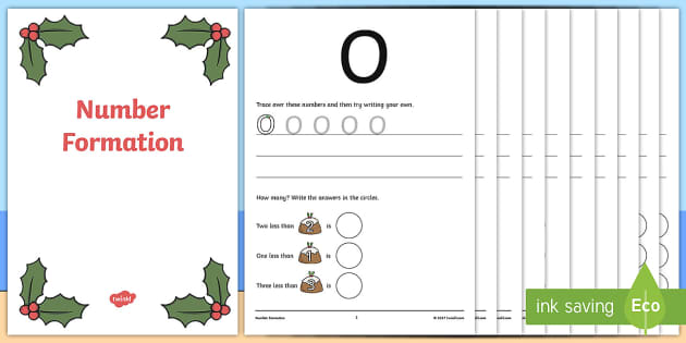 Australia Sunny Christmas Number Formation Workbook - christmas, number
