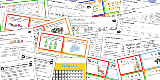 KS3 Maths Addition and Subtraction Catch Up Resource Pack - pack