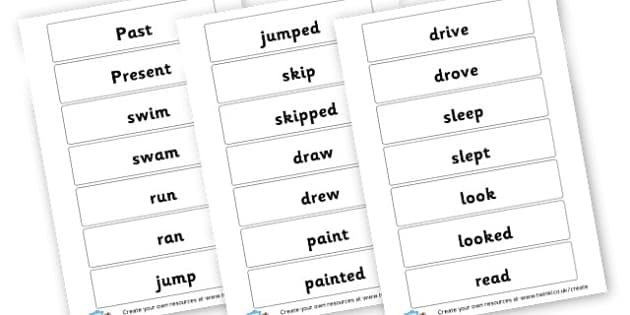 past tense - Writing - Vocabulary, Grammar and Punctuation Learn how to use th