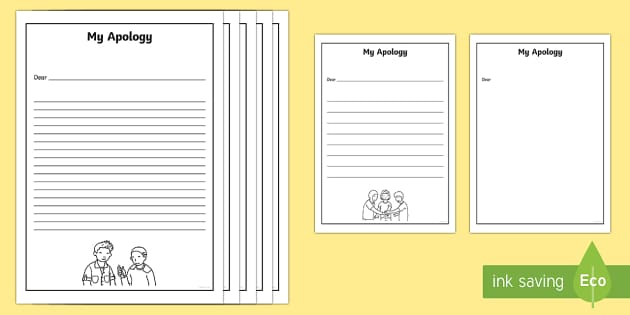 My Apology Letter Writing Frames - my apology, apology, apologise, letter, writing frames, write