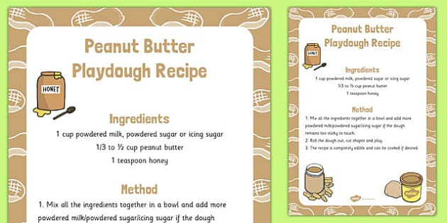Peanut Butter Playdough Recipe - peanut butter, playdough, recipe
