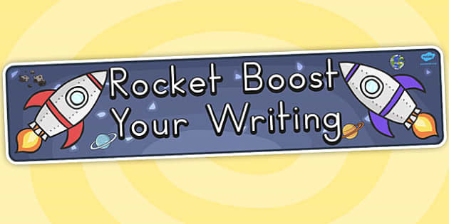 Rocket Boost Your Writing Banner - australia, rocket, writing