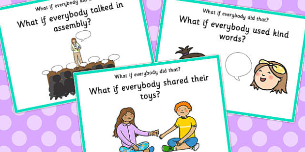 'What if Everyone Did That?' Cards (Set 6) - what if, everyone, did, cards