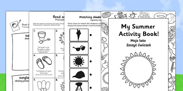 Summer Activity Booklet Polish Translation - polish, EYFS, Early Years Key Stage 1, end of term, colouring, seasons, puzzles, games, seaside, holidays