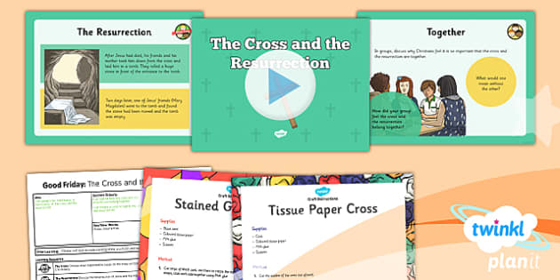 PlanIt - RE Year 3 - Good Friday Lesson 5: The Cross and the Resurrection Lesson Pack - cross, resurrection, sins, Jesus, crucifixion