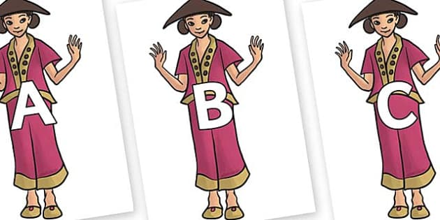 A-Z Alphabet on Lila - A-Z, A4, display, Alphabet frieze, Display letters, Letter posters, A-Z letters, Alphabet flashcards
