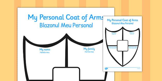 Personal Shield Transition Writing Frame Romanian Translation