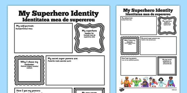 Superhero Transition Writing Frame Romanian Translation - romanian, superheroes, writing aid