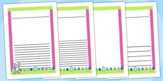 Easter Themed Writing Frames - easter, writing frame, write, RE