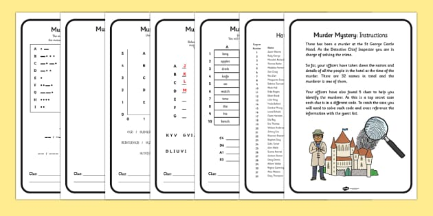 Murder Mystery Problem Solving Game - problem solving, game, Problem solving, puzzle, morse code, mystery
