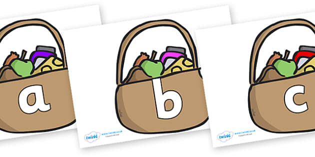 Phoneme Set on Baskets - Phoneme set, phonemes, phoneme, Letters and Sounds, DfES, display, Phase 1, Phase 2, Phase 3, Phase 5, Foundation, Literacy