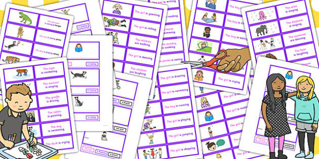 SV and SVO Cut Up Sentence Cards Resource Pack - resource, pack