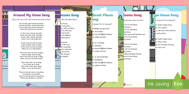 Houses and Homes Songs and Rhymes Resource Pack