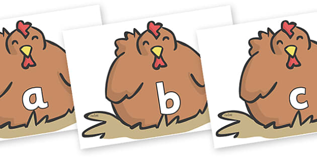 Phase 2 Phonemes on Chickens - Phonemes, phoneme, Phase 2, Phase two, Foundation, Literacy, Letters and Sounds, DfES, display