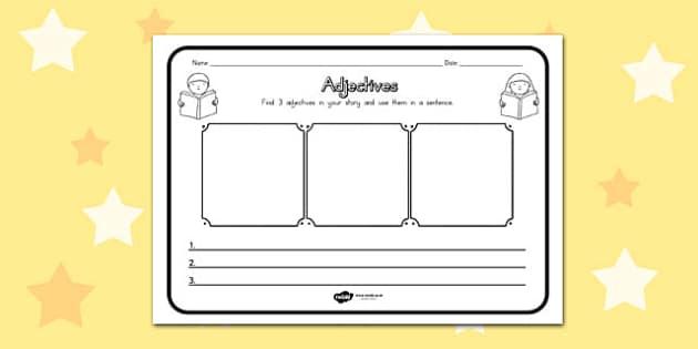Adjectives Comprehension Worksheet - australia, comprehension