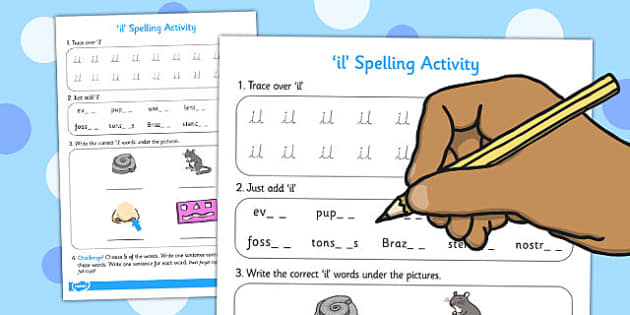 il Spelling Activity - spelling activity, il, ctivity, spelling