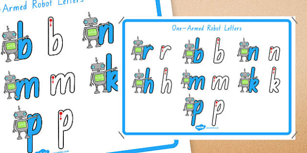 One Armed Robot Letters Formation Display Poster Foundation - australia, letter formation, display poster, display, poster, letter, formation, one-armed robot