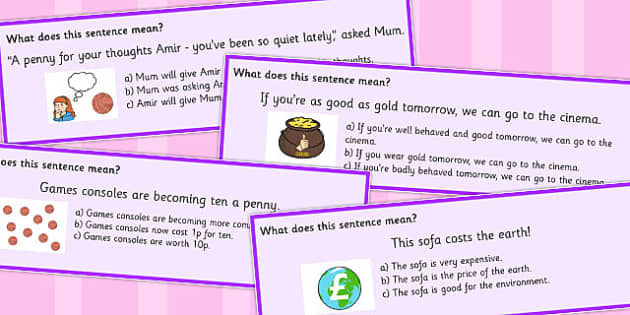 Money Idioms Multiple Choice Cards - money, idioms, multiple, choice