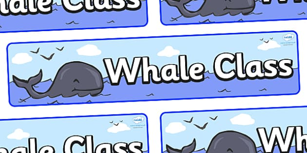 Whale Themed Classroom Display Banner - Themed banner, banner, display banner, Classroom labels, Area labels, Poster, Display, Areas