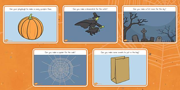 Halloween Playdough Mats - spooky, role play, activity, game, design, fun, make, model, topic,