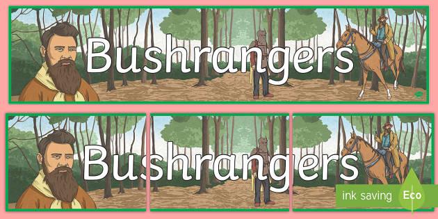 Bushrangers Display Banner - Bushrangers, outlaws, Australian history, Australia, Ned Kelly,Australia