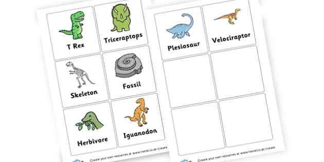 Dinosaurs Word Cards - Dinosaurs Keywords Primary Resources, letters, phonics, sounds