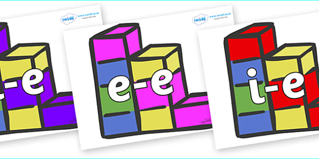 Modifying E Letters on Building Bricks - Modifying E, letters, modify, Phase 5, Phase five, alternative spellings for phonemes, DfES letters and Sounds