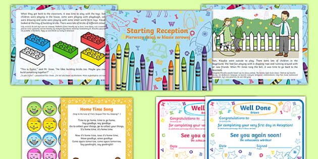 EYFS Starting reception editable powerpoint story and resource pack Polish Translation-Polish-translation