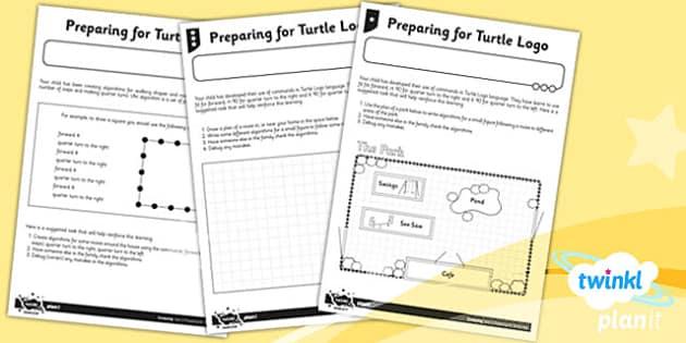 PlanIt Computing Y2 Preparing Turtle Logo Unit Home Learning Task