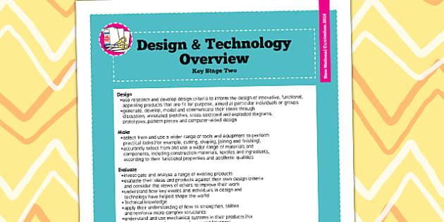 2014 Curriculum KS2 Design and Technology Overview - KS2 plan