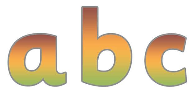 Display Lettering & Symbols (Autumn) - Display lettering, display letters, alphabet display, letters to cut out, letters for displays, coloured letters, coloured display, coloured alphabet, atumn
