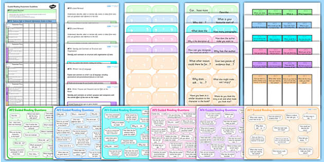 AF Guided Reading Resource Pack - assessment focus, guided reading, af, assessment focus pack, guided reading pack, af checklists, af bookmarks, af cards