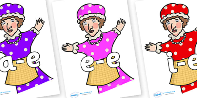 Modifying E Letters on Punch & Judy - Modifying E, letters, modify, Phase 5, Phase five, alternative spellings for phonemes, DfES letters and Sounds