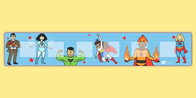 Superhero Themed Visual Timetable Display - Visual Timetable, education, home school, superhero