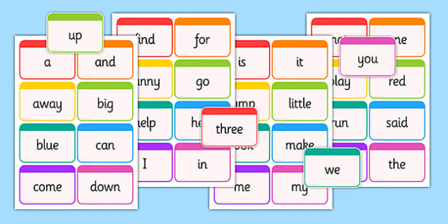 Dolch Word Flashcards Pre-Primer - usa, america, dolch, word, flashcards, pre-primer