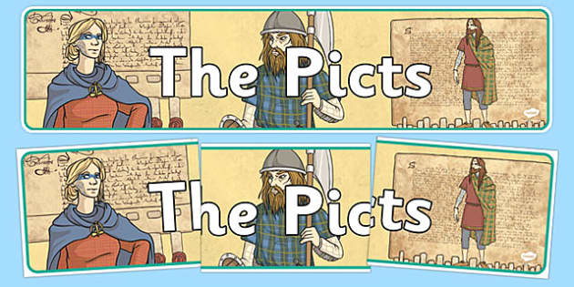 The Picts Display Banner - CfE, Social Studies, The Picts, display banner