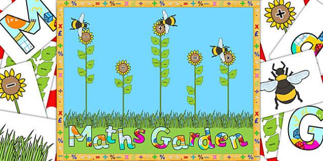 Ready Made Maths Garden Display Pack - ready made, maths, pack