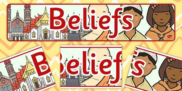 Beliefs Display Banner CfE - display banner, cfe, beliefs, banner