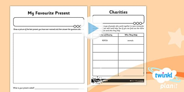PlanIt - RE Year 1 - Gifts and Giving Home Learning Tasks - planit, re, religious education, gifts and giving, home learning tasks