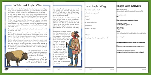 Buffalo and Eagle Wing Myth and Questions - usa, america, bison, myths, eagle, questions