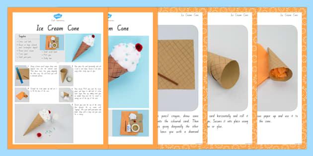 Ice Cream Cone Craft Instructions - nz, new zealand, craft, instruction, ice cream