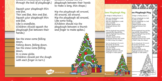 Christmas Decorations Playdough Play Song - EYFS, Early Years, Christmas, winter, Playdough Play,Dough Disco, finger gym, fine motor skills, Phy