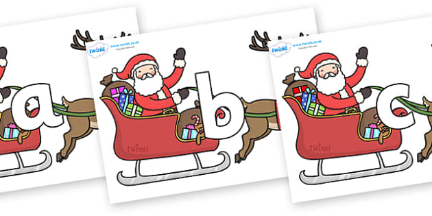 Phoneme Set on Santa in Sleigh - Phoneme set, phonemes, phoneme, Letters and Sounds, DfES, display, Phase 1, Phase 2, Phase 3, Phase 5, Foundation, Literacy