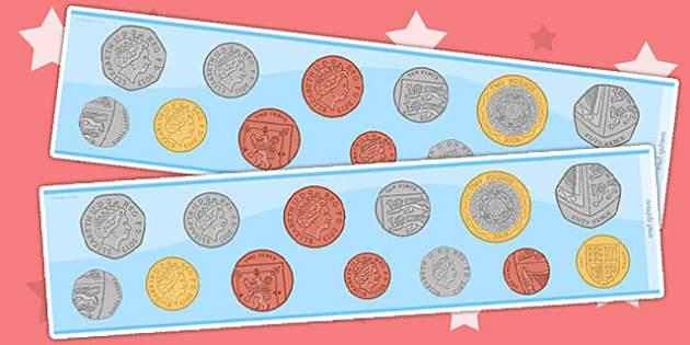 New British (UK) Coin Display Borders - money, money display