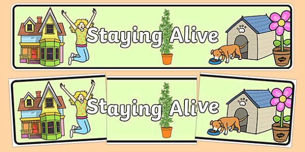 Staying Alive Display Banner - australia, Australian Curriculum, Staying Alive, science, kindergarten, banner, wall display