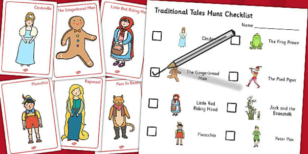 Traditional Tales Hunt Activity Pack - hunt, activity, pack, tale