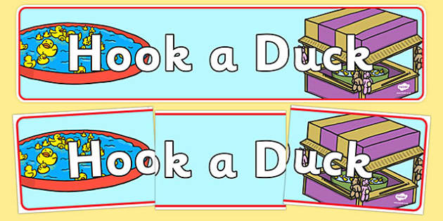 Hook a Duck Role Play Display Banner - hook a duck, role play, role play hook a duck, display banner, hook a duck display banner, hook a duck banner
