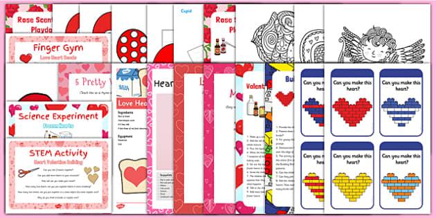 Childminder Valentine's Day Resource Pack - Hearts, Love Valentine