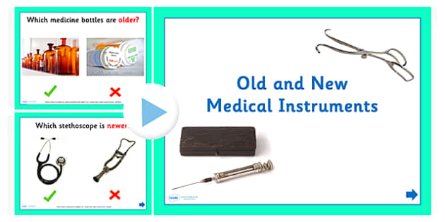 Old and New Medical Instruments Activity PowerPoint - old and new medical instruments, old and new medical instruments powerpoint, medical instruments