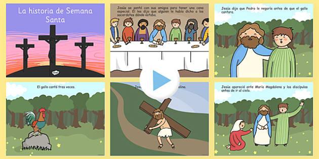 La historia de Semana Santa - easter, semana santa, story, historia, powerpoint,spain, mfl, espanol